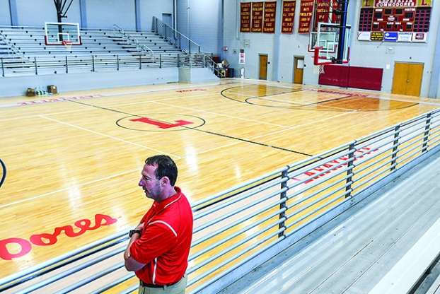 Lafayette High School Updates Gym Floor With New Design The